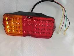 Фонарь задний Левый УАЗ 12V LED светодиодный c проводом, легковой-прицеп
