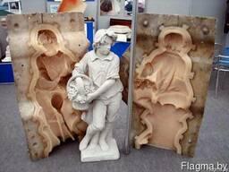 Формы под заказ для скульптур из гипса, бетона и полистоуна/