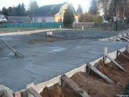 Фундаменты. Установка опалубки и арматуры заливка бетоном.