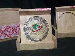 Футляр под медаль деревянный