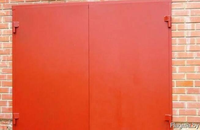 Гаражные металлические ворота с калиткой и без калитки
