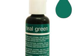 Гелевый краситель Chefmaster Liqua-Gel Teal Green 21 гр.