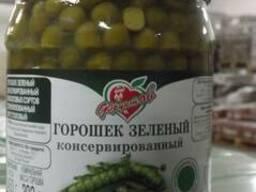 Горошек зеленый консервированный, высший сорт