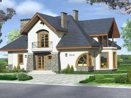Готовый проект двухэтажного жилого дома