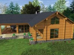 Готовый проект: Гостевой дом с баней и бильярдной