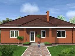 Готовый проект одноэтажного дома на четыре комнаты