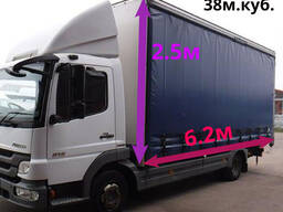 Грузоперевозка объемных грузов до 38 м. куб. (5тонн).