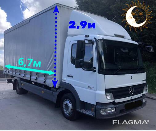 Грузоперевозки до 5,5 тонн (50 м. куб) по Минску и РБ.