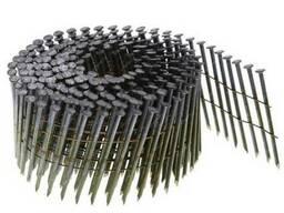 Гвозди в бобинах круглого сечения со скошенным острием