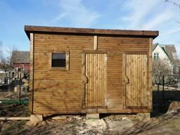 Хозблок 2х4 метра с окном и туалетом (душ)
