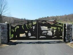 Художественные ворота (распашные, откатные)