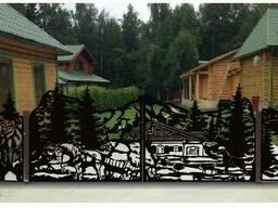 Ворота и забор из металла