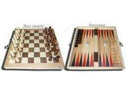 Игра 3 в 1 (деревянная) шахматы, нарды, шашки, подарочный