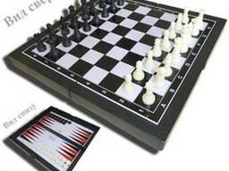 Игра 3 в 1 (шашки, шахматы, нарды) пластик. FORA