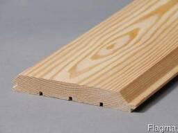 Имитация бруса (фальш-брус) из лиственницы сибирской