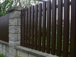 Изготовление и монтаж заборов ворот калиток металлоштакетник