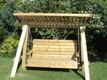 Качели деревянные для дачи и дома - фото 2