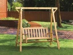 Качели деревянные для дачи или дома