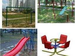 Качели детские, качалки-балансиры, карусели, столы, скамьи,