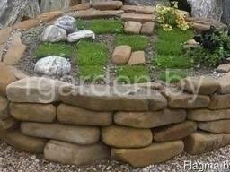 Камень для подпорных стенок. Каменный кирпич.Кладочный камен