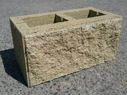 Камень стеновой колотый 188х195х390
