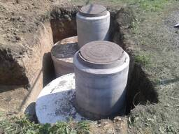 Септик из бетонных колец на 3, 4, 5, 6, 7 кубов