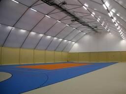 Каркасно-тентовые сооружения для спортивных площадок