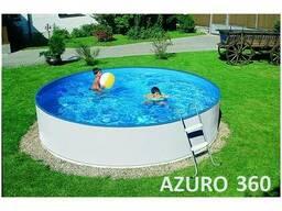 Каркасный бассейн Azuro 360 (300A), песчаный фильтр 2000 м3/ч