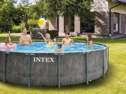 Каркасный бассейн Intex Greywood Prism Frame Premium / 26744NP (549х122см)