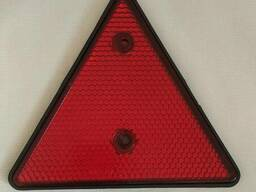 Катафот светоотражатель треугольный красный световозращающий на борт прицепа, на. ..