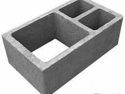 Керамзитобетонные блоки для вентканалов, 3-х канальные