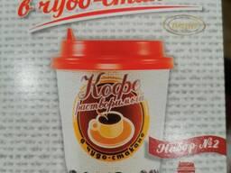 Кофе капучино в бумажном стаканчике 250 мл.