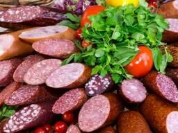 Колбаса, овощная консервация, молочная продукция, хлеб