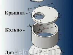 Кольца колодезные бетонные 1м. 1, 5м. 2м.