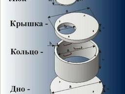Кольца колодезные, крышки и днища в ассортименте