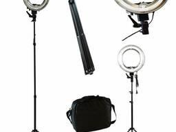 Кольцевая лампа на штативе для визажистов, парикмахеров, фот