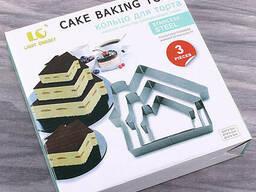 """Кольцо для торта """"Домик"""" 3шт в наборе"""