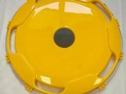 Колпак на диск колеса R-22,5 задний пластиковый цвет желтый на Грузовые АВТО