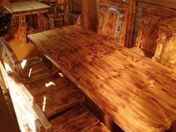 Комплект деревянной мебели из массива