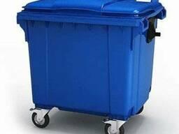 Контейнер пластиковый для мусора 1100 литров 480 рублей - фото 2