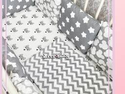 Конверт на выписку бортики в кроватку коконы гнездышко