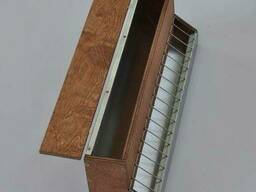 Кормушка бункерная деревянная односторонняя 2л