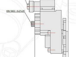 Коробка отбора мощности Мерседес Атего G60 в сторону - фото 5