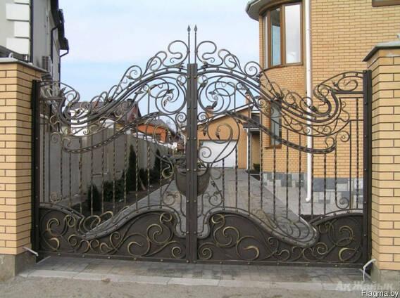 Кованные, простые металлоконструкции в Житковичах.