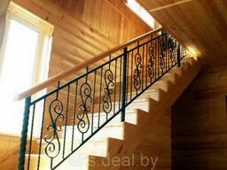 Кованые перила для лестниц дома. Лестничные перила. .. .