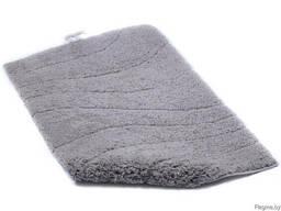 """Коврик для ванной текстильный серый """"La Ola"""" 60*90 см"""