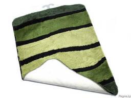 """Коврик для ванной текстильный зеленый """"Jolie"""" 60*90 см"""