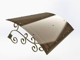 Козырьки над входной дверью (кепка с ковкой). Доставка по РБ