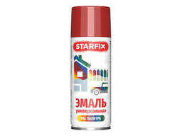 Краска-эмаль аэроз. универсальная красный Starfix 520мл (3002) (Карминно-красный. ..