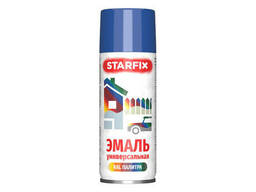 Краска-эмаль аэроз. универсальная синий Starfix 520мл (5010) (Генцианово-синий, глянцевая)